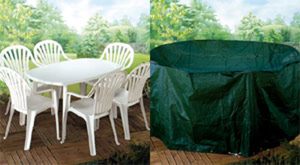 Patio Set Cover - Medium Oval & Patio Set Cover Medium Oval - Garden Furniture Covers and BBQ
