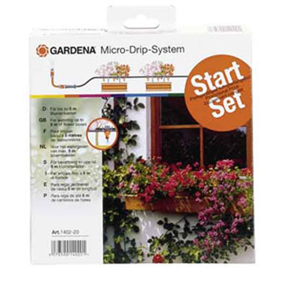 gardena micro drip containers hanging baskets watering system garden and greenhouse watering. Black Bedroom Furniture Sets. Home Design Ideas
