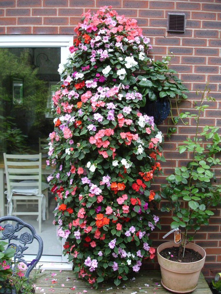 Flower Tower Hanging Baskets : Polanter flower tower hanging gardening and patio
