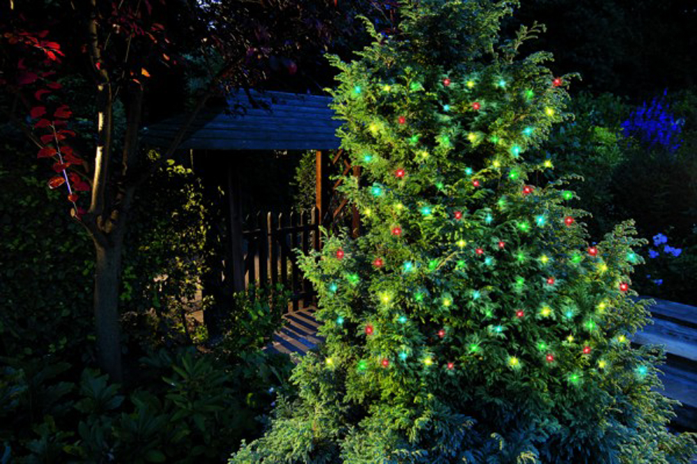 50 coloured led christmas tree lights