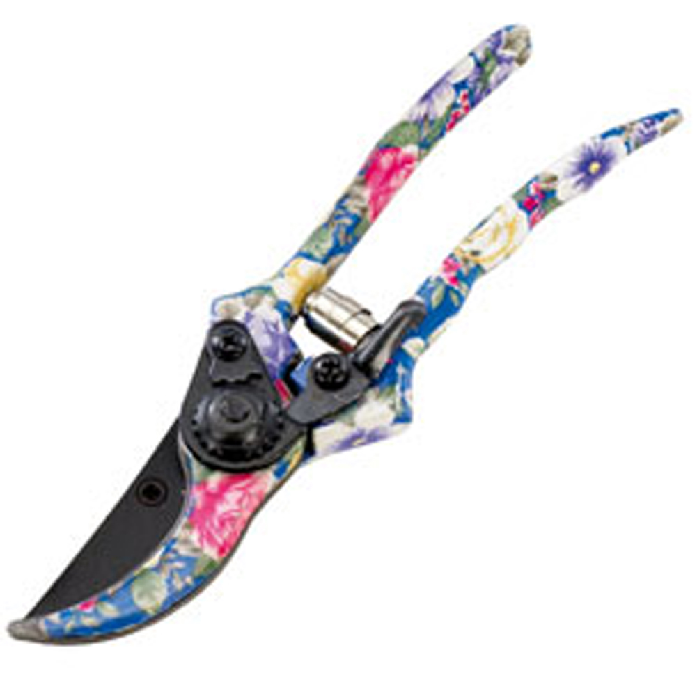 Secateurs Blue Floral - Garden Tools and Equipment