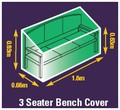 Premium Woven Polyester Cover - bench cover 1.5m